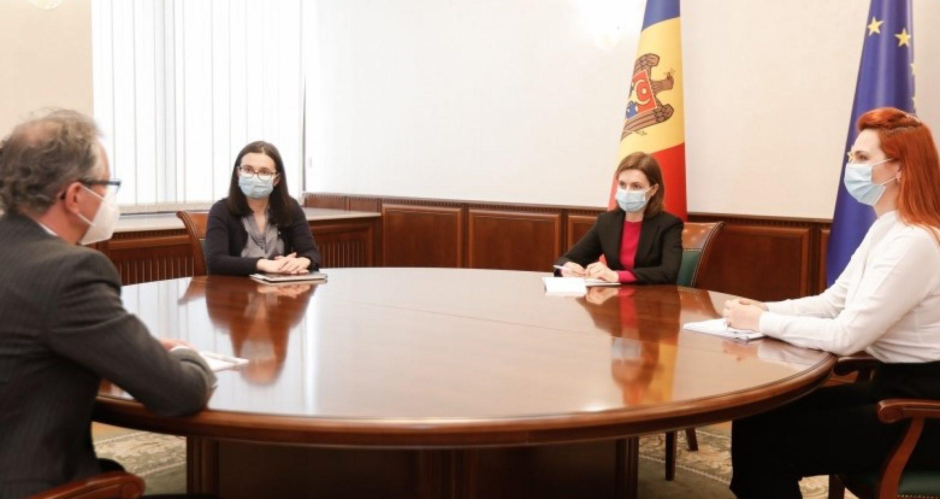 Președinta Sandu a discutat cu șeful Misiunii OSCE în R. Moldova despre evoluția situației pandemice