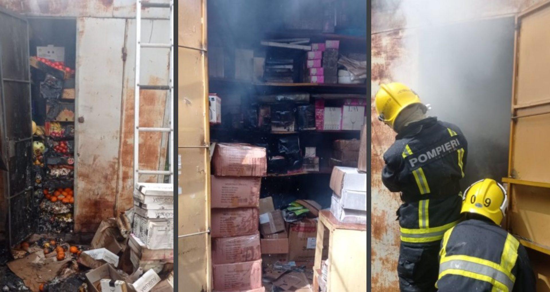 VIDEO/ Incendiu în ziua de Paști, la Comrat. Trei gherete, mistuite de flăcări