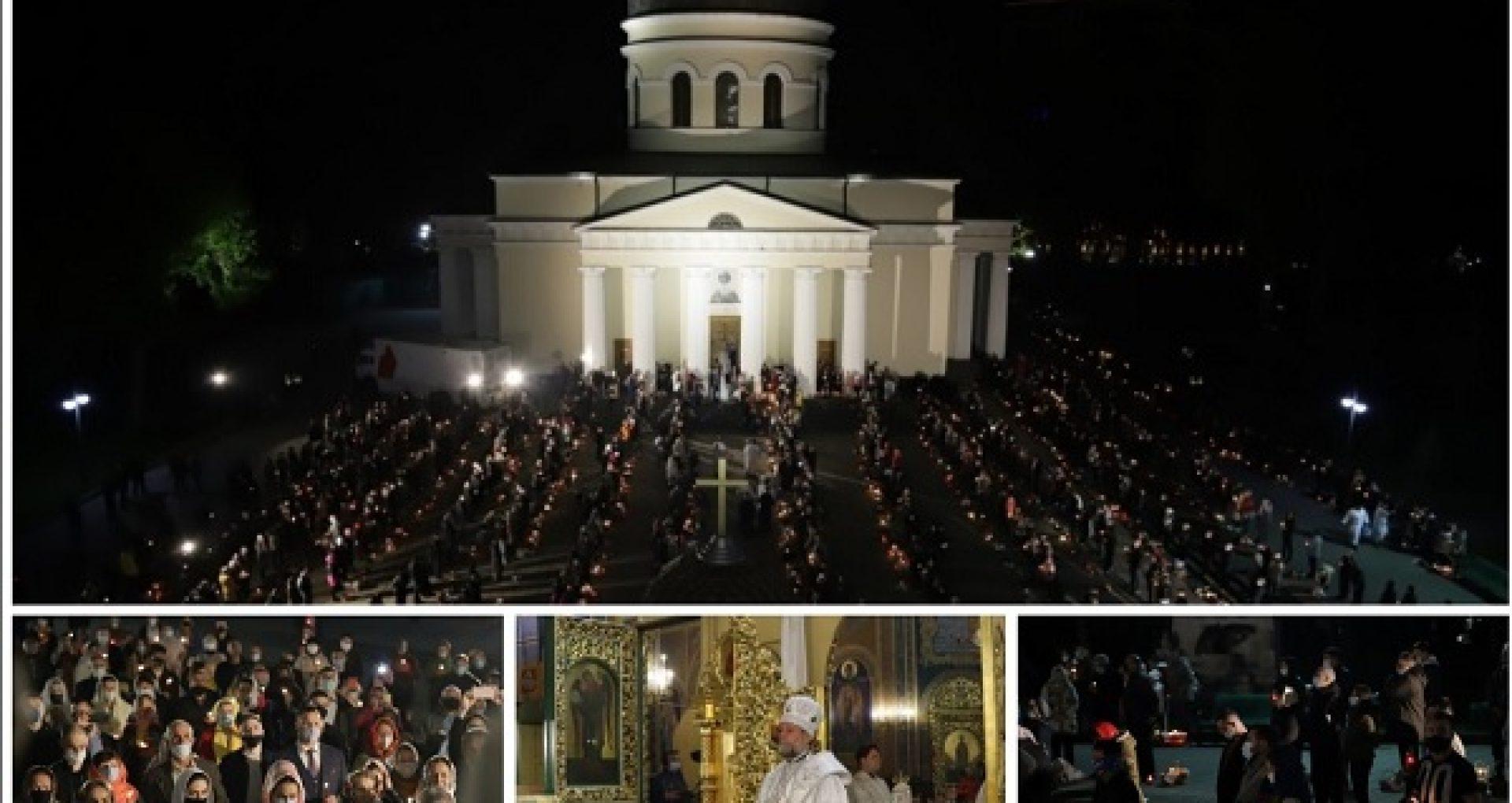 GALERIE FOTO/ Cum s-a desfășurat Slujba de Înviere la Catedrala Mitropolitană și cum au fost sfințite bucatele, în al doilea Paști în pandemie