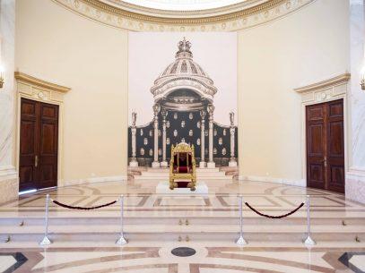FOTO/ Pentru prima dată, după mai bine de 70 de ani, tronul Regelui Carol I al României este expus, cu ocazia Zilei Regalității