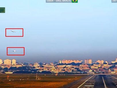 VIDEO/ O aeronavă deținută de o companie din R. Moldova a evitat în timpul unei aterizări coliziunea cu un alt Boeing, în Brazilia