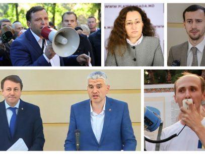 Pretendenții la funcția de deputat ai Platformei DA:  Cinci actuali deputați, primii în lista formațiunii conduse de Andrei Năstase