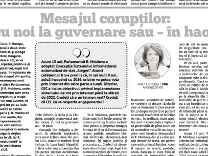 Mesajul corupților: cu noi la guvernare sau – în haos