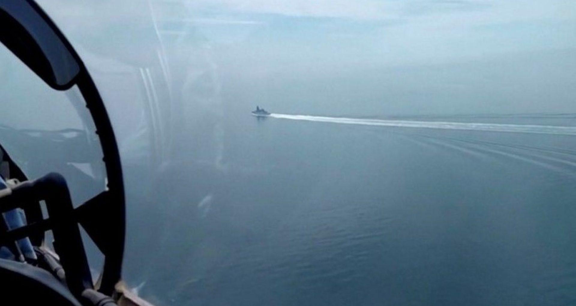 """Un jurnalist BBC aflat la bordul navei Defender dezvăluie detalii despre incidentul din Marea Neagră: """"Vasul de război a fost survolat de mai mult de 20 de avioane rusești"""""""
