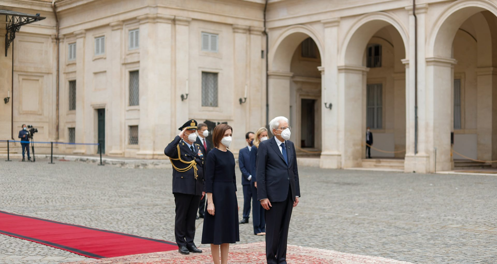 VIDEO, FOTO/ Președinta Maia Sandu a avut o întrevedere cu președintele Republicii Italiene, în cadrul vizitei oficiale la Roma