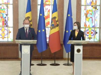 """VIDEO/ Declarațiile președintei R. Moldova și ale ministrului român de Externe: """"România va acorda 300 000 de euro R. Moldova pentru susținerea societății civile și a presei independente"""""""