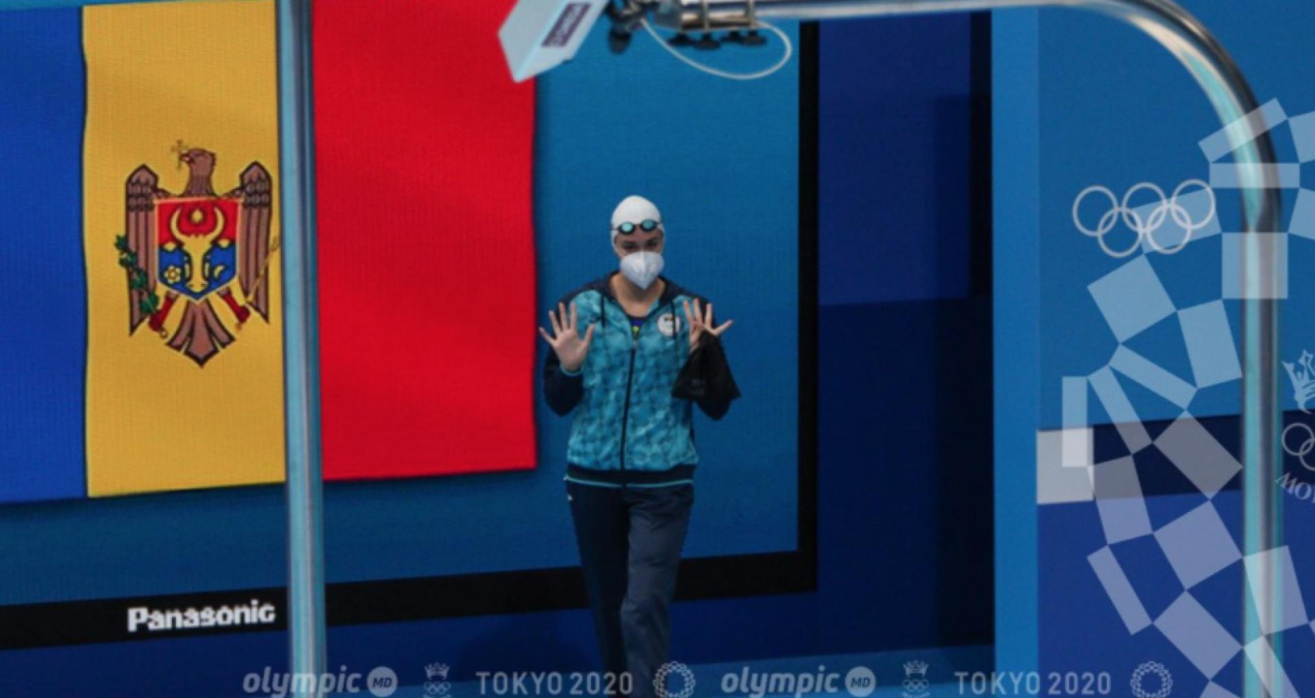 FOTO/  Pentru prima data în ultimii 25 de ani, o înotătoare din R. Moldova a evoluat în semifinale la Jocurile Olimpice. Tatiana Salcuțan a bătut recordul R. Moldova la înot