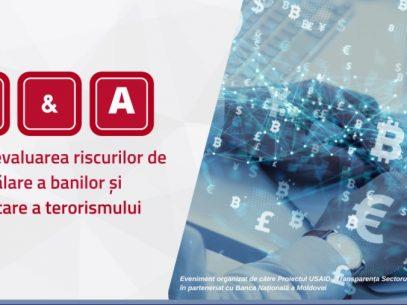 Ce vrei să știi despre evaluarea riscurilor de spălare a banilor și finanțare a terorismului? BNM organizează o sesiune online de întrebări și răspunsuri privind evaluarea riscurilor de spălare a banilor