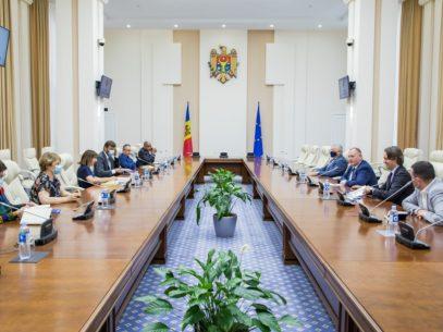 Misiunea de observatori a Organizației Internaționale a Francofoniei a avut o întrevedere cu premierul interimar Aureliu Ciocoi