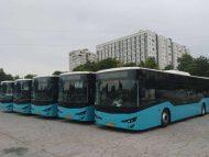 FOTO/ Primele 5 autobuze din cele 100 achiziționate de Primărie au ajuns la Chișinău