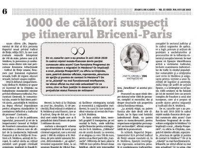 1000 de călători suspecți pe itinerarul Briceni—Paris