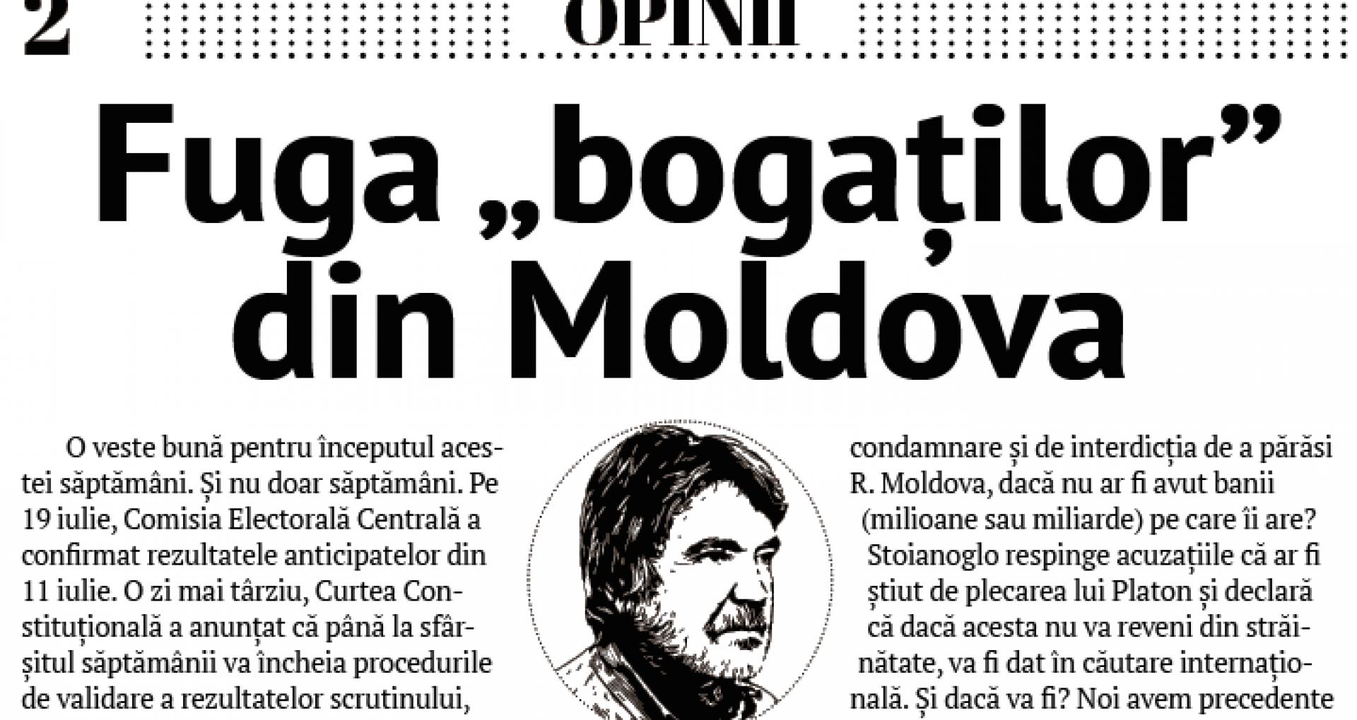 "Fuga ""bogaților"" din Moldova"