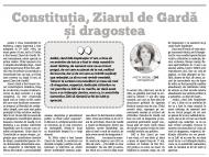 Constituţia, Ziarul de Gardă și dragostea