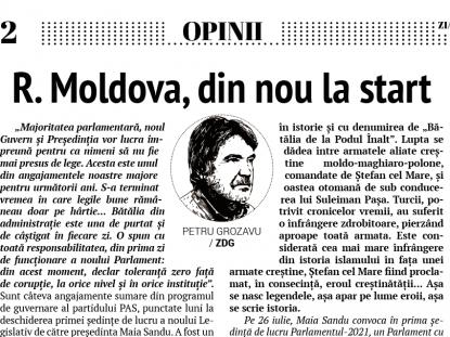 R. Moldova, din nou la start