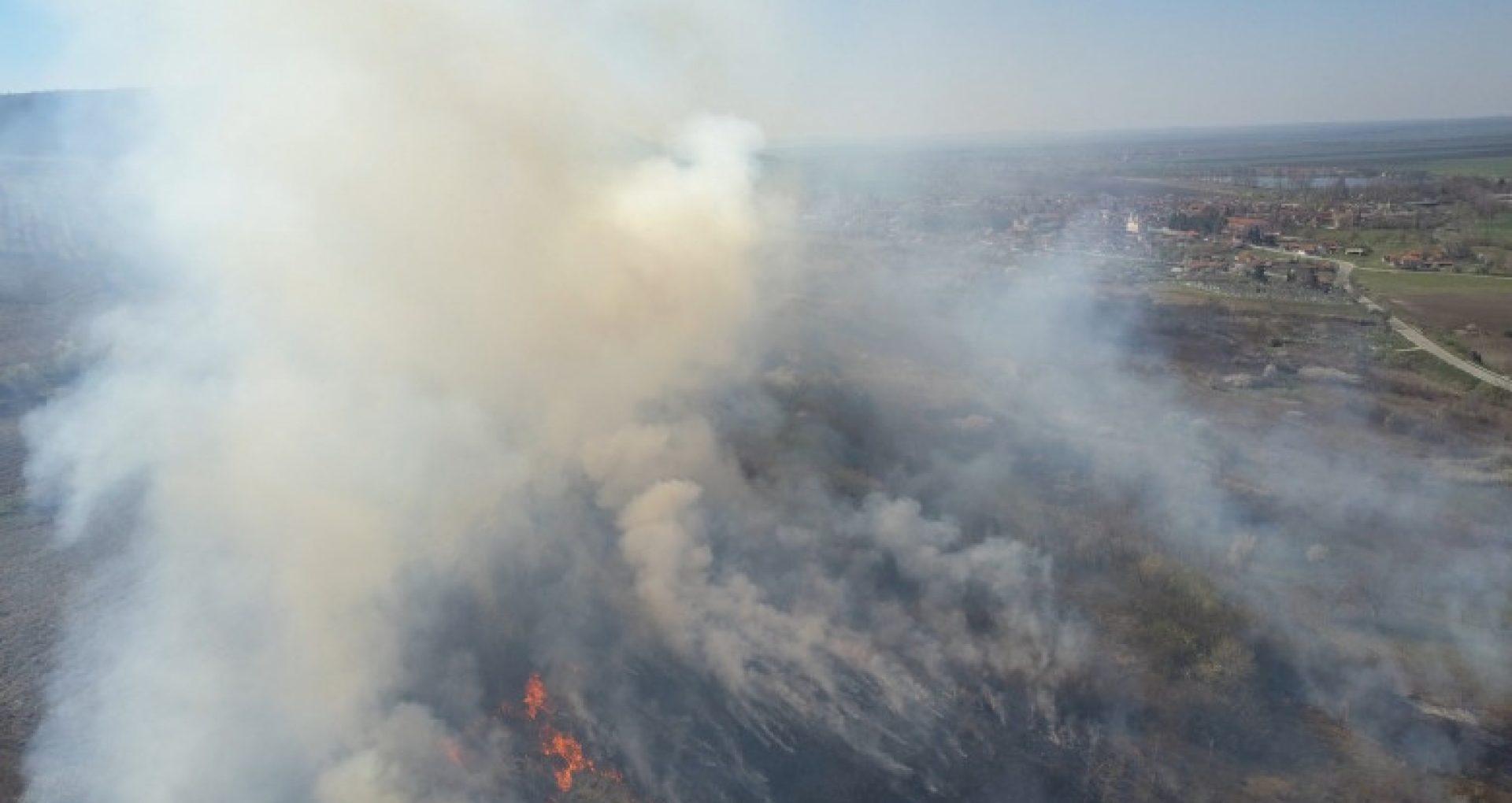 Incendiile de vegetaţie continuă să devasteze zone din Bulgaria