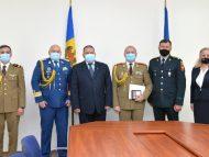 FOTO/ Noul atașat militar adjunct al României în R. Moldova, prezentat la Ministerul Apărării