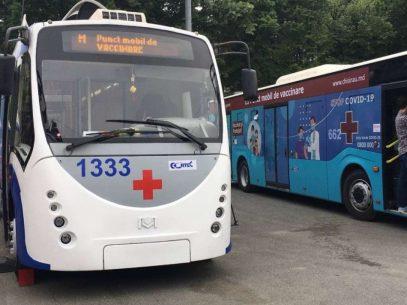 DOC/ Programul celor două puncte mobile de vaccinare – troleibuzul și autobuzul. Unde pot merge cetățenii să se vaccineze anti-COVID
