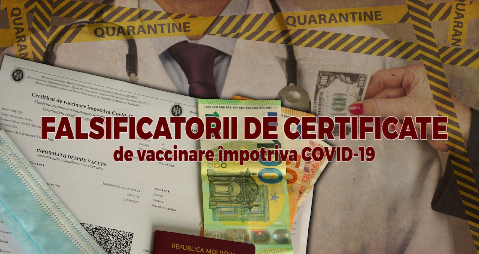 """Falsificatorii de certificate de vaccinare împotriva COVID-19: """"Ați înțeles, da? Două verzi"""""""