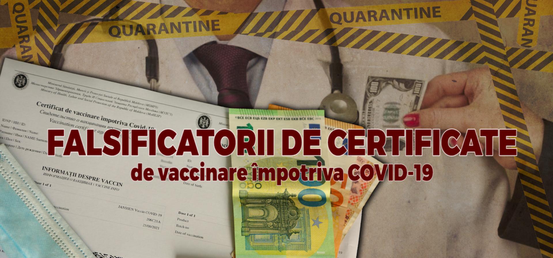 """VIDEO/ Falsificatorii de certificate de vaccinare împotriva COVID-19: """"Ați înțeles, da? Două verzi"""""""