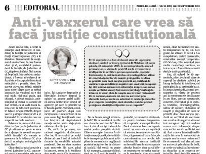 Anti-vaxxerul care vrea să facă justiție constituțională