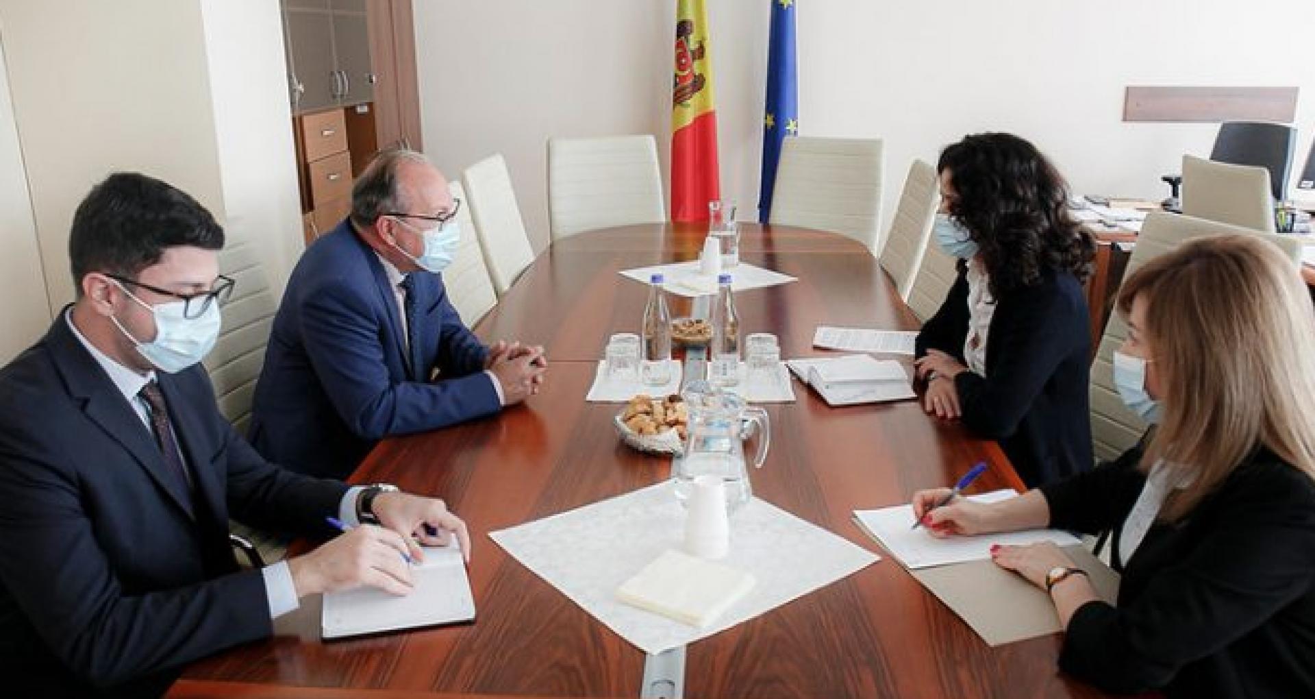 Reforma justiției, discutată de președinta Comisiei juridice, numiri și imunități cu ambasadorul României la Chișinău