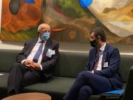 Vicepremierul Nicu Popescu s-a întâlnit la New York cu omologul portughez Augusto Santos Silva: oficialii au discutat despre un schimb de experiență în domeniul diasporei, dar și despre recunoașterea certificatelor de vaccinare emise de R. Moldova