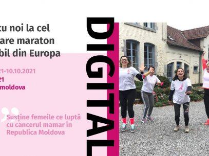 Participă la maratonul Race for the Cure, în semn solidaritate cu femeile care luptă cu cancerul mamar în R. Moldova