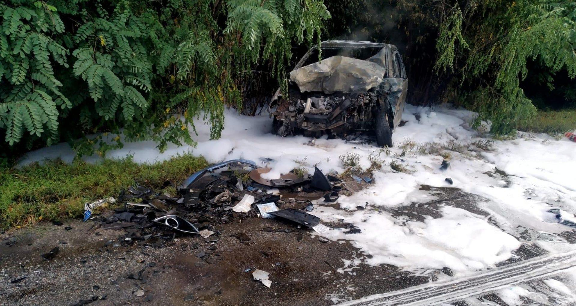 FOTO/ Accident fatal în regiunea Kiev cu implicarea unui moldovean