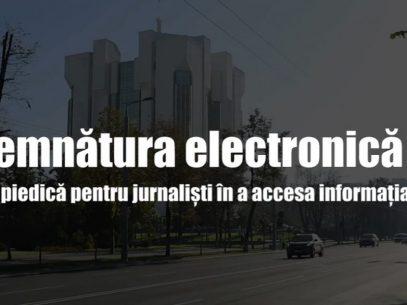 VIDEO/ Semnătura electronică – piedică pentru jurnaliști în a accesa informația