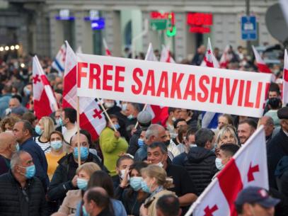 Proteste în Georgia. Mii de oameni au cerut eliberarea lui Mihail Saakashvili